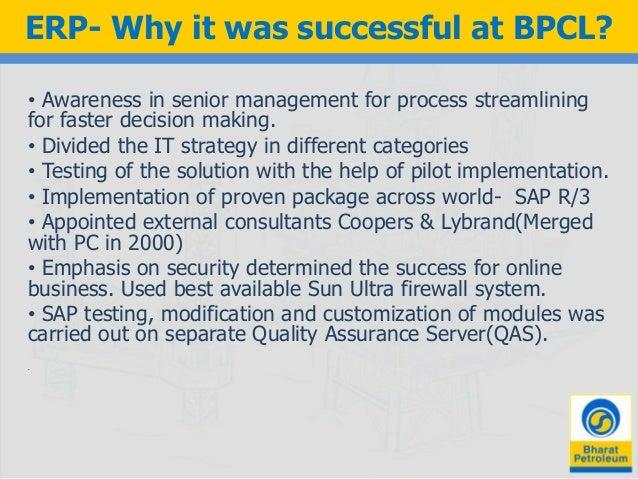 case understand erp launch bpcl
