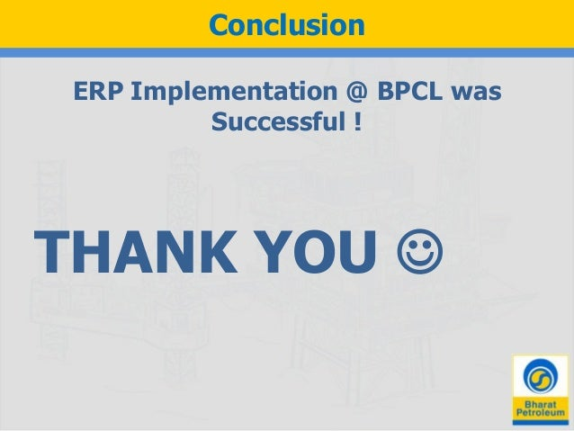 Erp Implementation At Bpcl Case Study Ppt