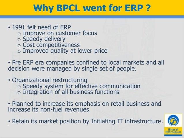 case study erp implementation bpcl