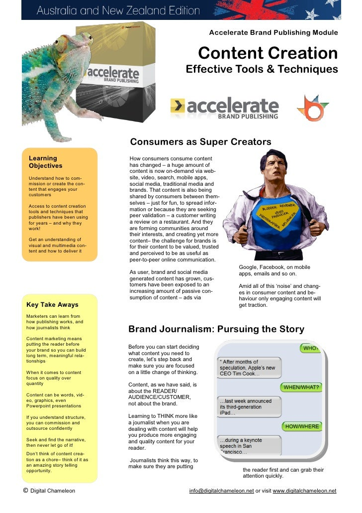 Accelerate Brand Publishing Module                                                                    Content Creation    ...