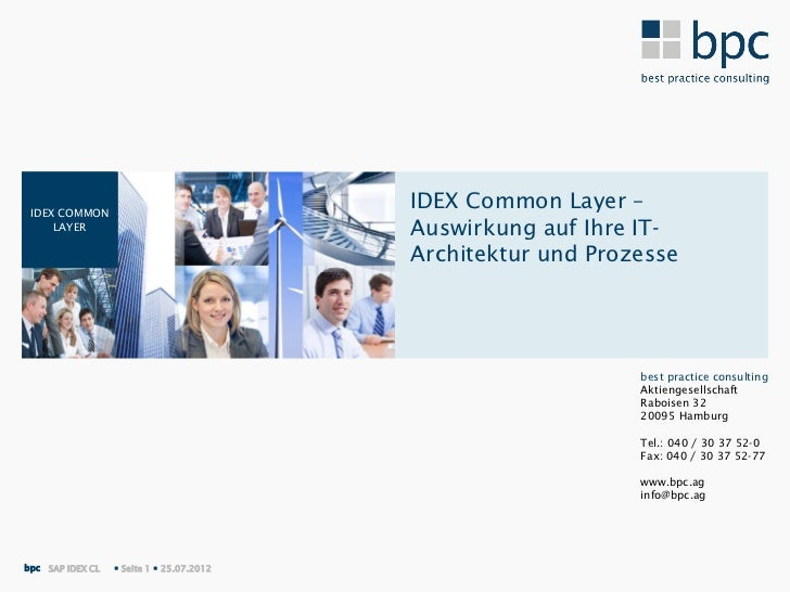 IDEX COMMON                                           IDEX Common Layer –     LAYER                                 Auswir...