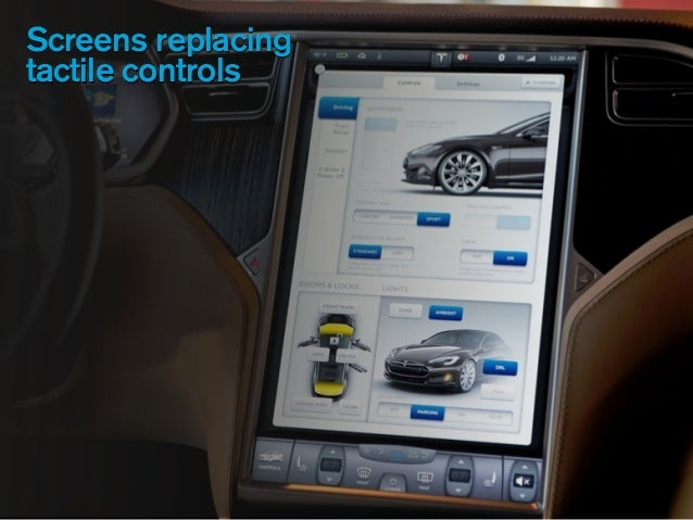 Screens replacing tactile controls