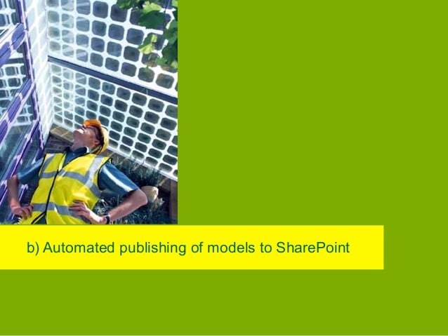 b) Model Publishing • Publishing of models from repository to BP Data Modelling Environment SharePoint − Completely automa...