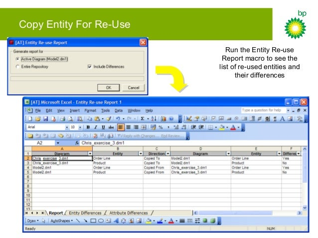 Entity Mapping Define a mapping concept then check diagram into Repository – this allows entities to be mapped to
