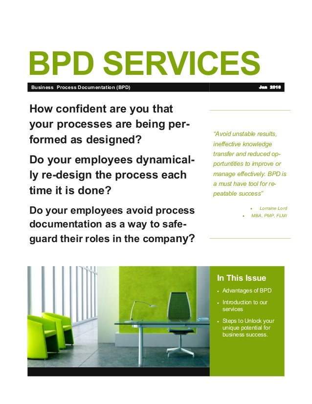 """BPD SERVICES """"Avoid unstable results, ineffective knowledge transfer and reduced op- portuntities to improve or manage eff..."""