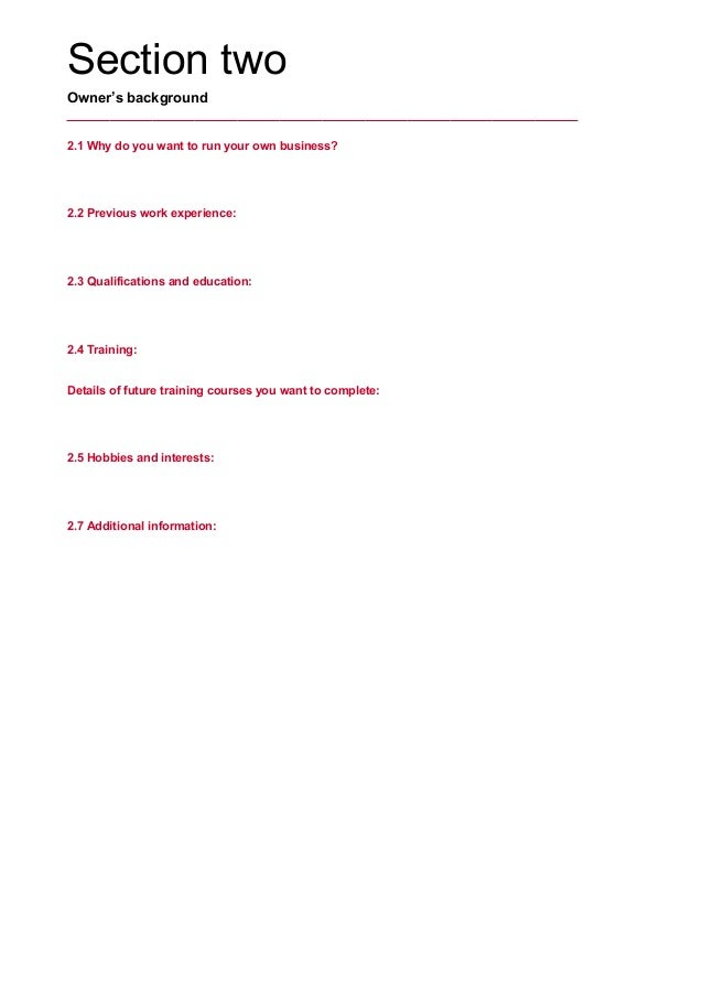 princess trust business plan template - bp electronic business plan workbook sep13 princess trust