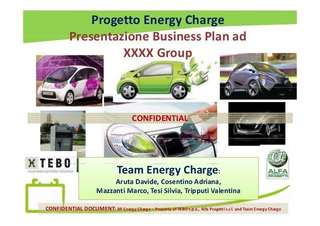ProgettoEnergyCharge Presentazione Business Plan adPresentazioneBusinessPlan ad XXXXGroup CONFIDENTIAL TeamEnergyCh...