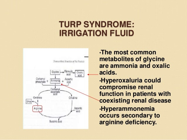 turp syndrome:irrigation
