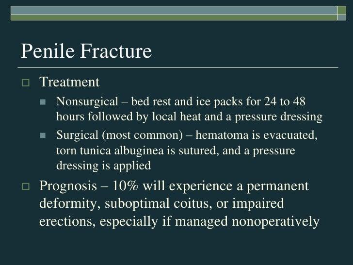 mild penile fracture symptoms
