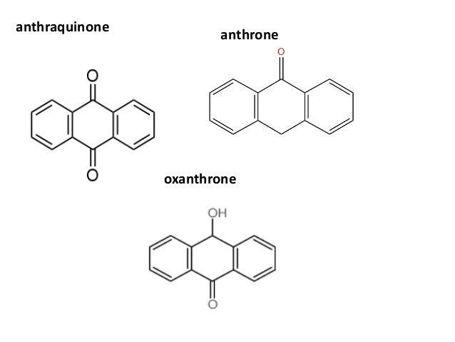 anthraquinone anthrone oxanthrone