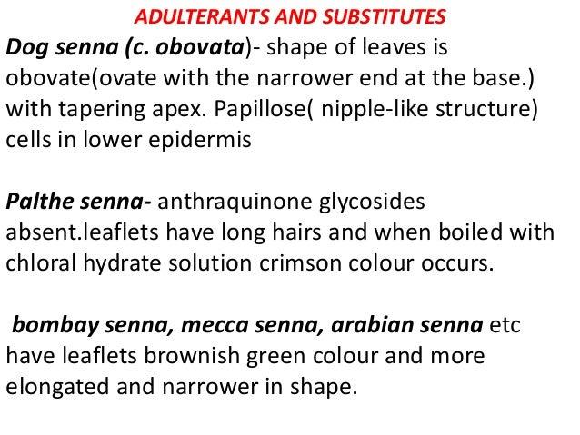 Alexandrian senna synonym folia sennae alexandrina, egyptian senna, cassia senna B.S it consist dried leaflets of Cassia A...