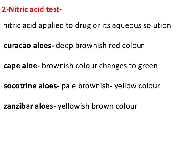 3 kupraloin test( klunge,s isobarbaloin test)- Dil. aqueous solution of aloe+ drop of copper sulphat+ sodium chloride + ex...