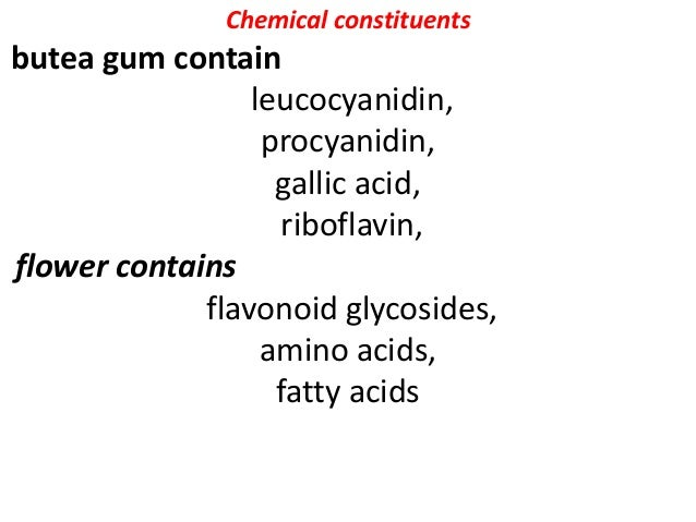 Chemical constituents Gum, essential oil, sterols Guggulsterols I to VI, beta sitosterol, cholesterol, z- guggulsterone, E...