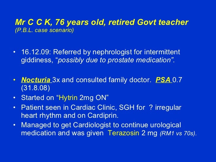Case Study BPH   Prostate   Urinary Incontinence