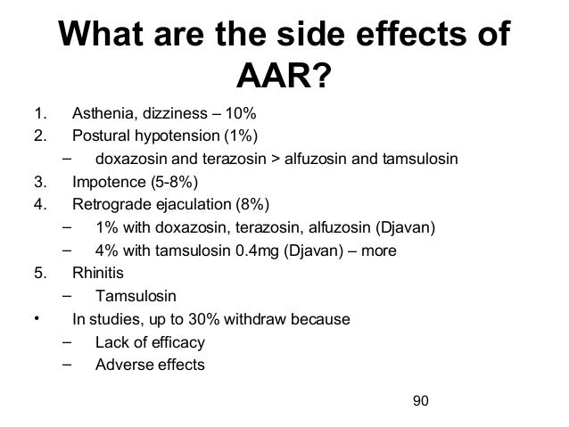 Alfuzosin Side Effects Impotence