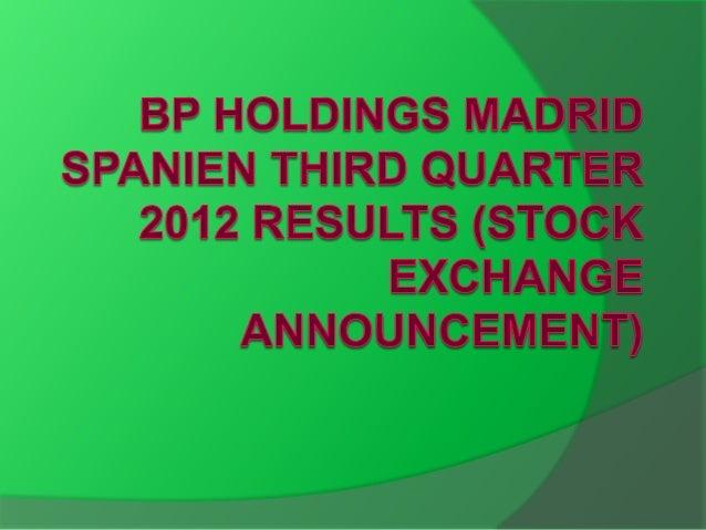BP hat im dritten Quartal Wiederbeschaffungskosten (RC) betrug $4.687 Mio., verglichen mit $ 5.276 Mio. im Vorjahr. Berein...