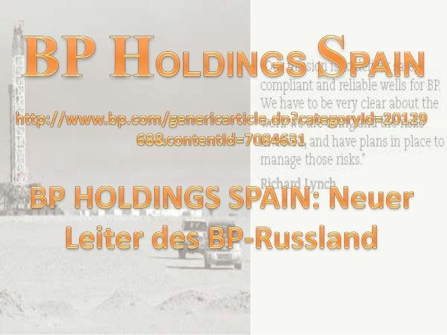 BP gab heute die Ernennung von Michael Townshend als SeniorVice President - Russland-BP-Gruppe, Bob Dudley, BP GroupChief ...