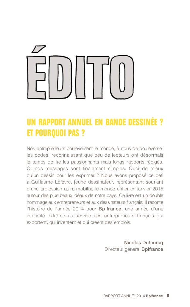RAPPORT ANNUEL 2014 Bpifrance 12
