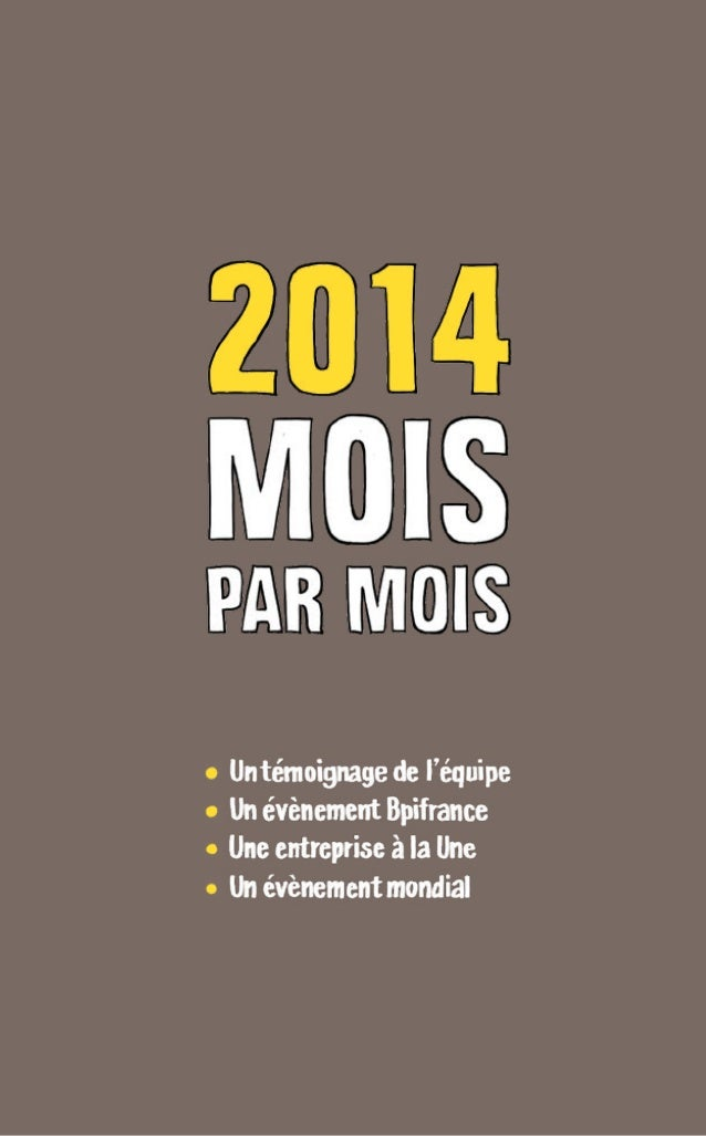 RAPPORT ANNUEL 2014 Bpifrance 18