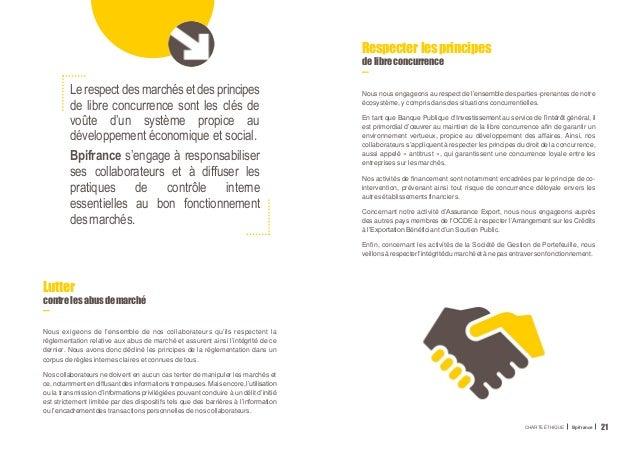 Le respect des marchés et des principes de libre concurrence sont les clés de voûte d'un système propice au développement ...