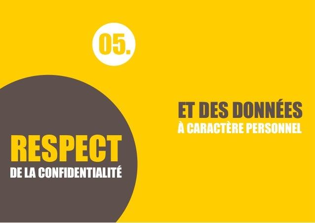 CHARTE ÉTHIQUE Bpifrance 18 ET DES DONNÉES À CARACTÈRE PERSONNEL 05. RESPECTDE LA CONFIDENTIALITÉ