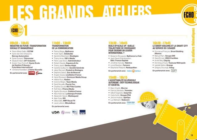 09h30 - 10h45 INDUSTRIE DU FUTUR :TRANSFORMATION SOCIALE ET MANAGÉRIALE • Pierre-Marie Gaillot, CETIM • Sylvie Van Den D...