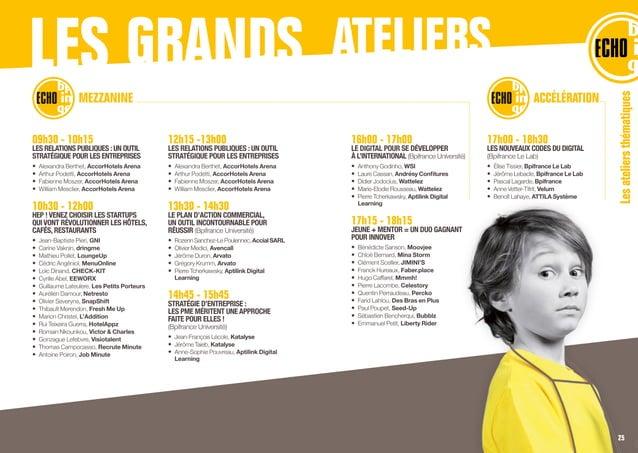 09h30 - 10h15 LES RELATIONS PUBLIQUES :UN OUTIL STRATÉGIQUE POUR LES ENTREPRISES • Alexandra Berthet, AccorHotels Arena •...