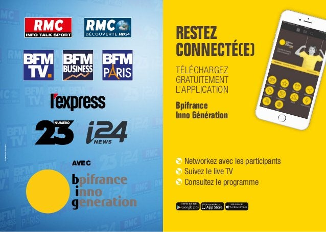 DeBonneville-Orlandini AVEC RESTEZ CONNECTÉ(E) TÉLÉCHARGEZ GRATUITEMENT L'APPLICATION Bpifrance Inno Génération Networkez ...