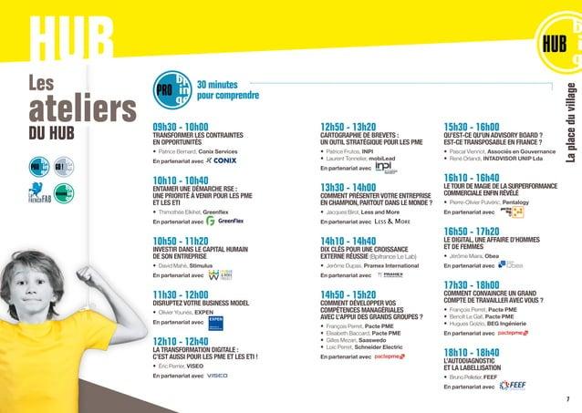 Laplaceduvillage HUBLes ateliersDU HUB 09h30 - 10h00 TRANSFORMER LES CONTRAINTES EN OPPORTUNITÉS • Patrice Bernard,Conix...