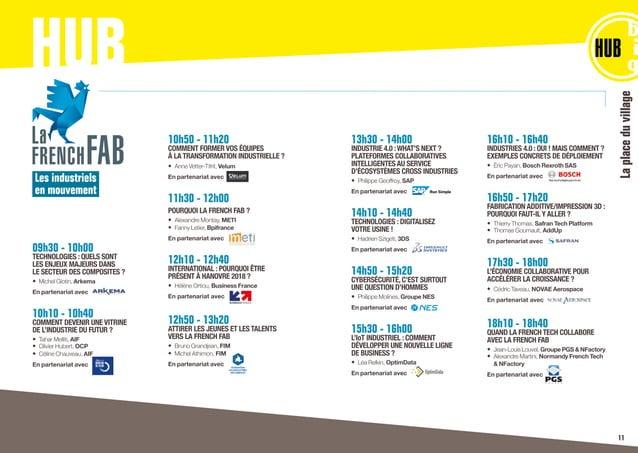 HUB Laplaceduvillage Les industriels en mouvement 09h30 - 10h00 TECHNOLOGIES : QUELS SONT LES ENJEUX MAJEURS DANS LE SECTE...