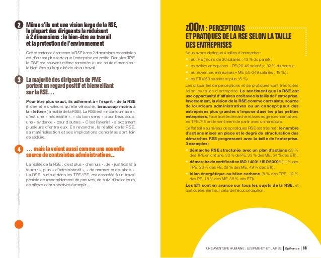 """UNE AVENTURE HUMAINE : LES PME-ETI ET LA RSE Bpifrance 78 NOUVE LLE-AQUITAINE Paroles de dirigeants """"Je constate que pour ..."""