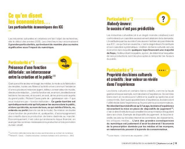 CRÉATIVITÉ DÉROUTÉE OU AUGMENTÉE Bpifrance Le Lab 20 Les industries de La French Touch selon Bpifrance Le Lab Un périmètre...