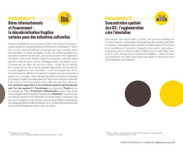 CRÉATIVITÉ DÉROUTÉE OU AUGMENTÉE Bpifrance Le Lab 22 • COMPARAISONDUPÉRIMÈTREDE3ÉTUDES: CELLESDUDCMS(1) ,D'EY(2) ETDEBP...