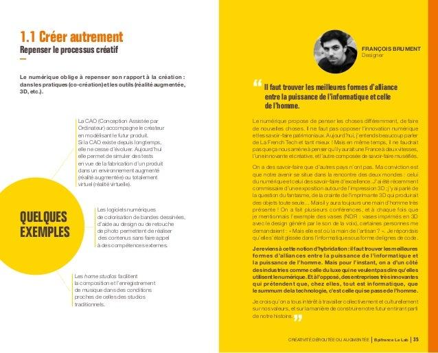 CRÉATIVITÉ DÉROUTÉE OU AUGMENTÉE Bpifrance Le Lab 74 PHILIPPE PICAUD Directeur Design Global de Carrefour et co-auteur de ...