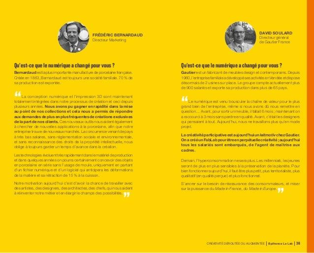 CRÉATIVITÉ DÉROUTÉE OU AUGMENTÉE Bpifrance Le Lab 76 1.2 Co-créer avec le client Enrichir la promesse de valeur L'individu...
