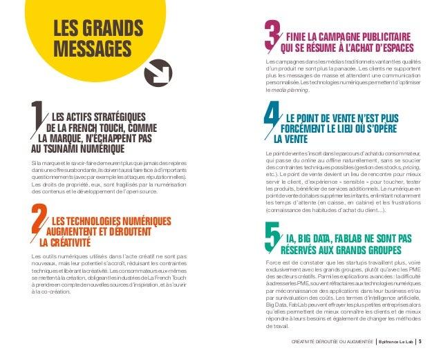 CRÉATIVITÉ DÉROUTÉE OU AUGMENTÉE Bpifrance Le Lab 8 4 idées reçues sur les industries de La French Touch et leur transform...