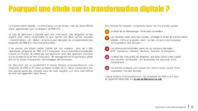HISTOIRE D'INCOMPREHENSION 2 La transformation digitale : un thème dans l'air du temps, mais qui reste difficile à bien ap...
