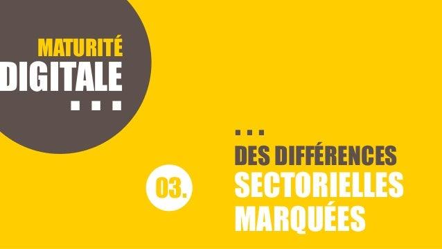 HISTOIRE D'INCOMPREHENSION MATURITÉ DIGITALE 03. DES DIFFÉRENCES SECTORIELLES MARQUÉES . . . . . .
