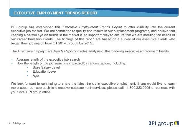 BPI group Executive Employment Trends Q2 2015 Slide 2