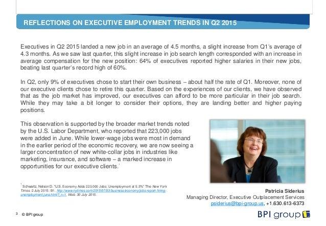 BPI group Executive Employment Trends Q2 2015 Slide 3