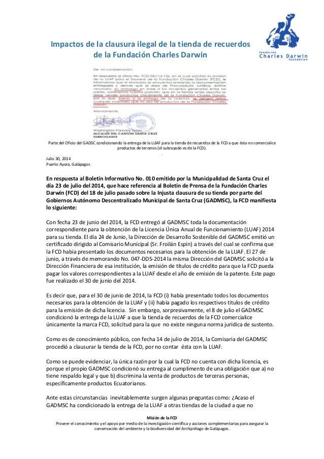 Misión de la FCD Proveer el conocimiento y el apoyo por medio de la investigación científica y acciones complementarias pa...