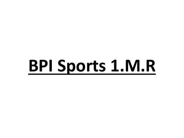 BPI Sports 1.M.R