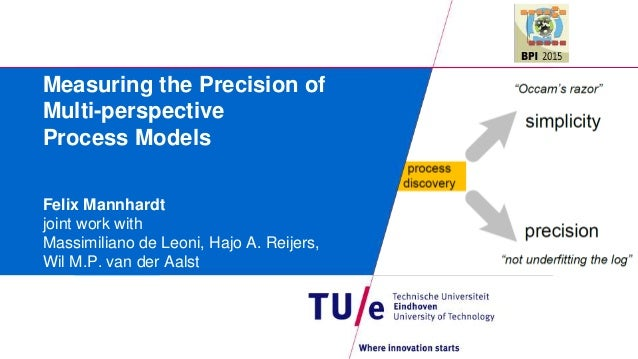 Measuring the Precision of Multi-perspective Process Models Felix Mannhardt joint work with Massimiliano de Leoni, Hajo A....