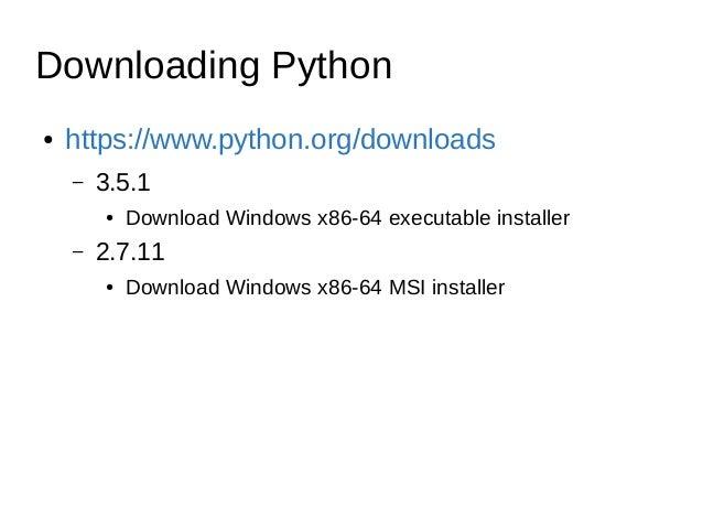 Basic Python usage