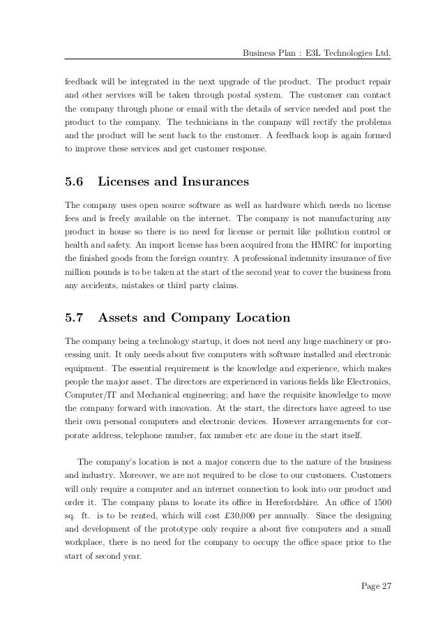 Business Plan Example