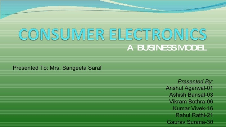 A BUSINESS MODEL  Presented To: Mrs. Sangeeta Saraf                                                 Presented By:         ...