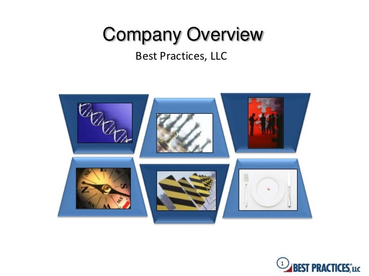Company Overview   Best Practices, LLC                         1