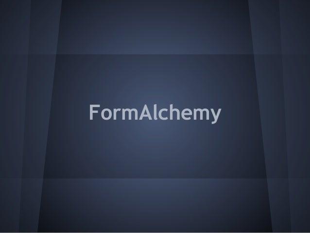 FormAlchemy