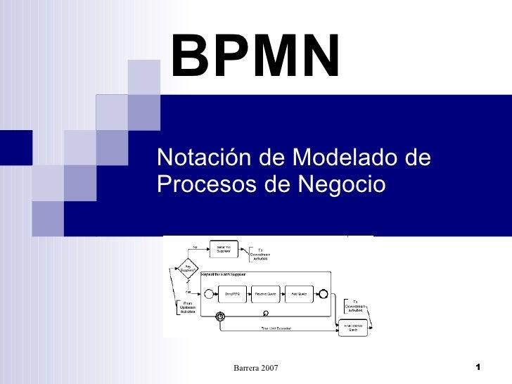 BPMN Notación de Modelado de Procesos de Negocio