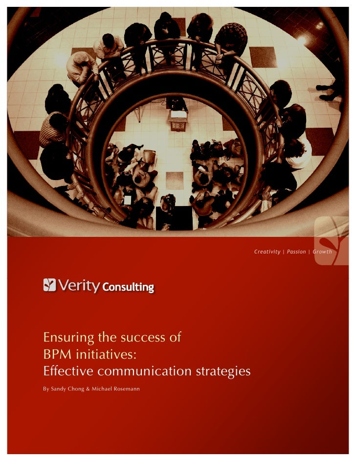 Creativity   Passion   Growth     Ensuring the success of BPM initiatives: Effective communication strategies By Sandy Cho...